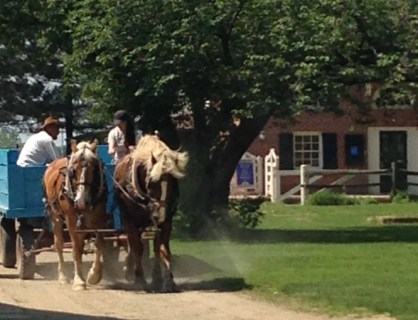 Landis Valley, horse-drawn wagon