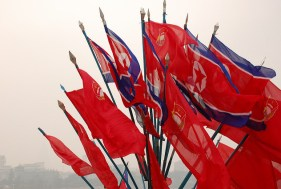 North Korea, flags