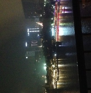 Nile River, night, lights