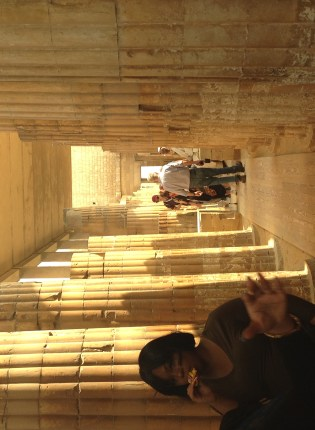 Close quarters in the temple at Sakkara