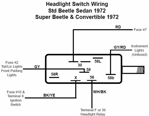 Vw Beetle Headlight Switch Wiring Diagram : 41 Wiring