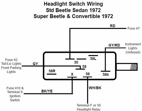 1966 vw beetle electrical diagram