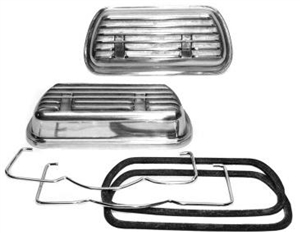 SCAT Clip On Aluminum Valve Covers, Pair, Type 1 Based