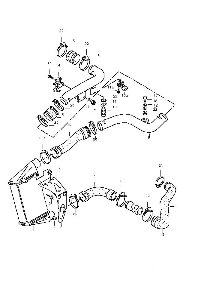 058145856J , 058 145 856 J , összekötő tömlő VW PASSAT TDI