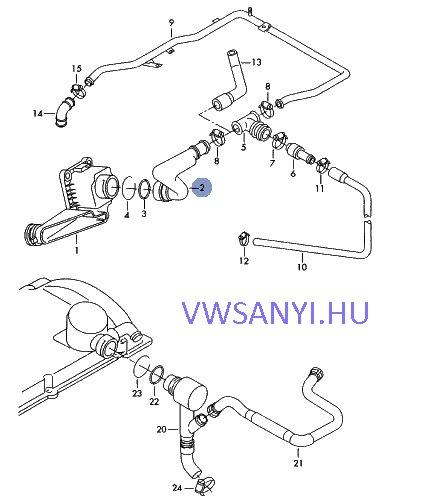 058103213 , vw passat B5 18 adr kartergázcső , Audi A4 18