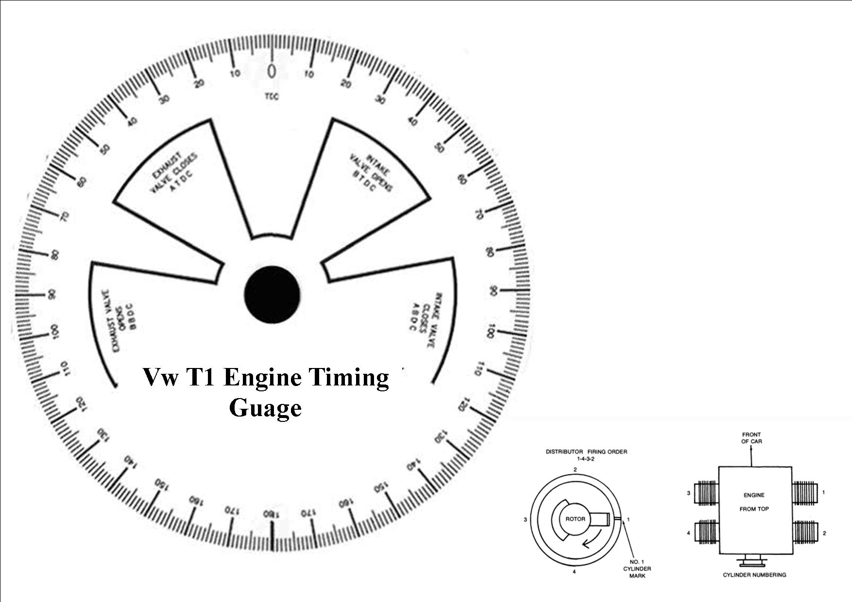 Here Is A Guage To Mark Your Bottom Pulley With Degrees To