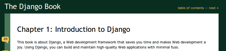The Django Book 2.0 in MobiPocket / Kindle format