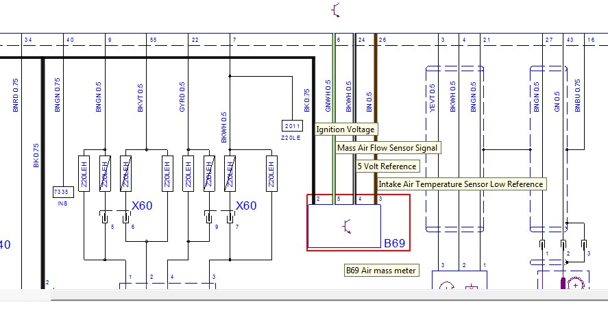 HOW TO Air Mass Meter AMM MAF Coloured Wiring Diagram CDTi