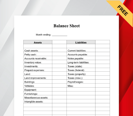 Elevate your bankrate experience get insider access to our best financial tools and content elevate your bankrate experience get insider access to our best financial too. Balance Sheet Format In Pdf Excel Word Free Download