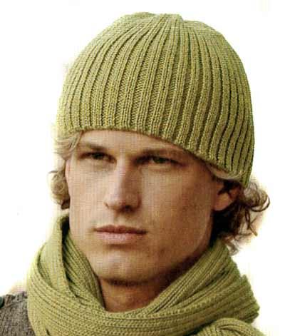 схема вязания мужской шапки спицами подарок любимому вязание