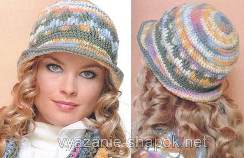 зимняя шляпа крючком