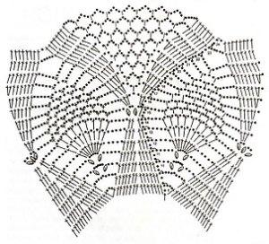 Схема вязания узора ананас