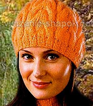 вязание спицами зимних шапок