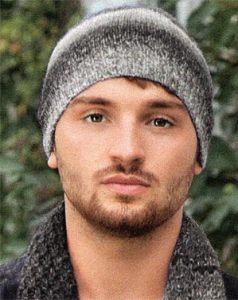 вязание спицами шапка мужская