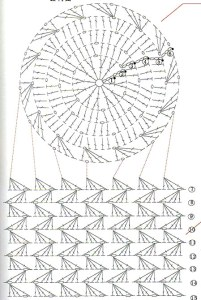 схема ажурной шапки крючком
