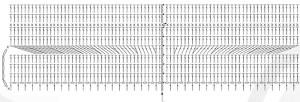 схема поля шляпы крючком