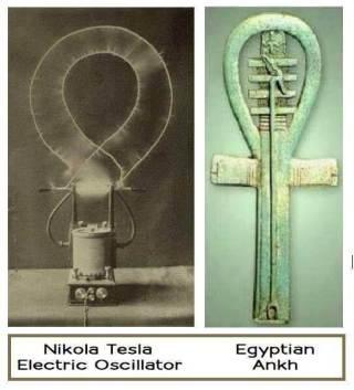 ニコラ・テスラの電気発振器とエジプトのアンク