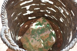 Rock mixed with copper ore.. generally known as Eilat stone.