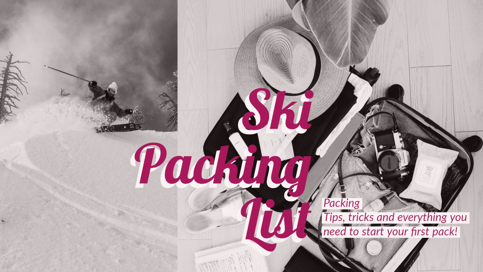 Reusable Ski Packing Checklist