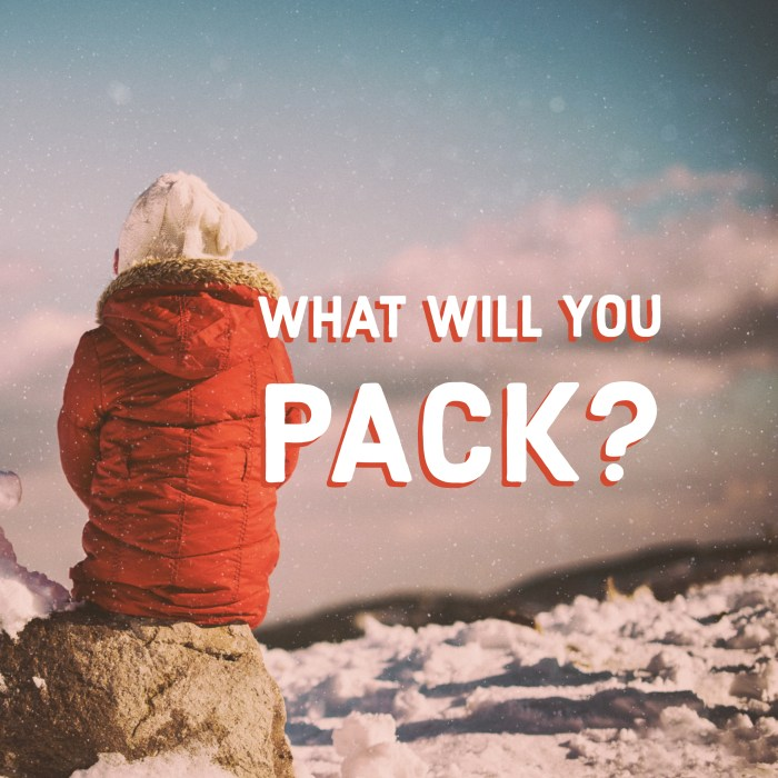Reusable Ski Packing Check List