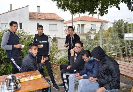 Подростки из молодежного центра города Vauvert