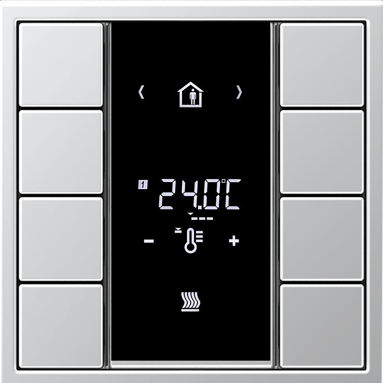 JUNG KNX termostat 50934KRMTSD, hliník F50, LS990