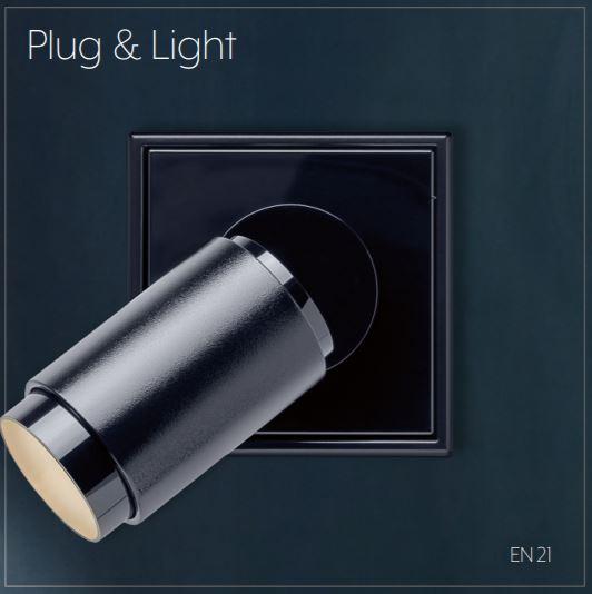 JUNG plug and light