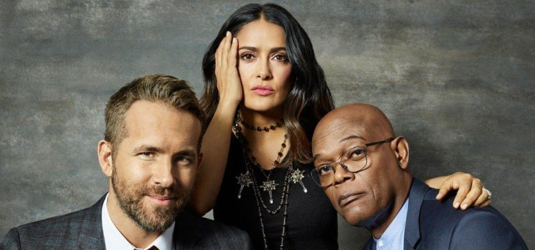 Salma Hayek, Ryan Reynolds y Samuel L. Jackson en The Hitman's Wife's Bodyguard