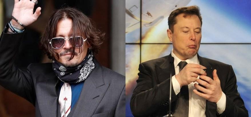 Johnny Depp y Elon Musk/Composición: AFP e IG @elonmusk