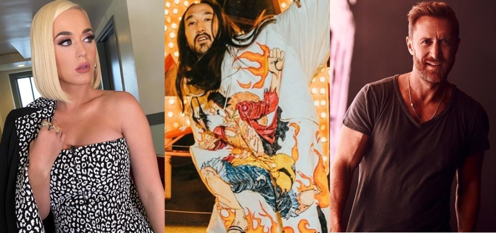 Katy Perry, Steve Aoki y David Guetta