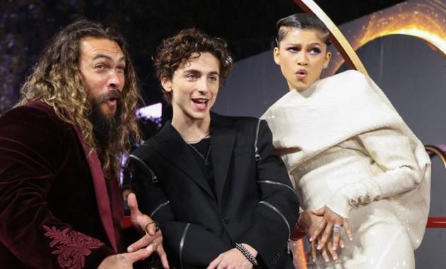 El elenco de Dune, Zendaya, Timothée Chalamet y Jason Momoa