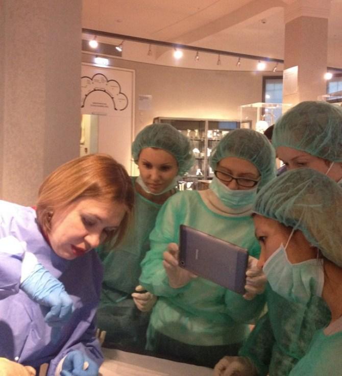 диссекционном курсе в Мюнхене