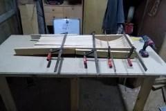 Dřevěné umyvadlo - klížení