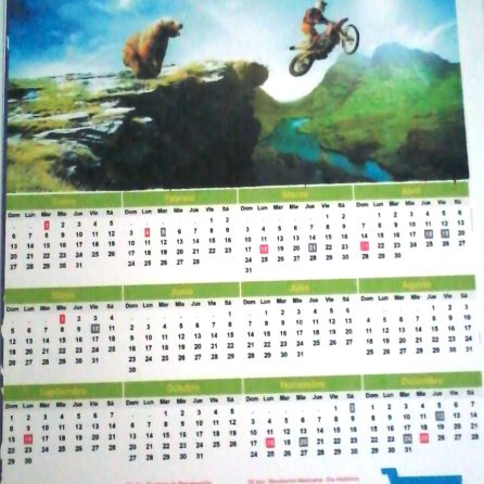 Diseño 100% personalizado de los cromos en combinación de color con el calendario y el marco.