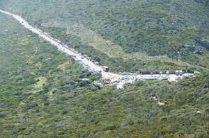 Südafrika2015 Cape Point Parkplatz