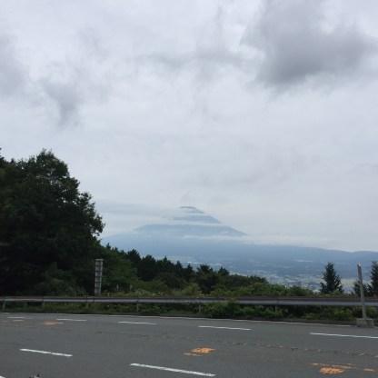 0748この日一番富士山がしっかり見えたのがスタート地点( *´艸`)