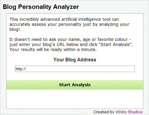 Blog Personality Analyzer