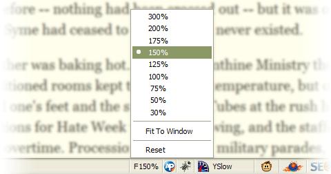 Default FullZoom Level screenshot