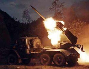 The russian multiple rocket launcher BM-21, aka Grad