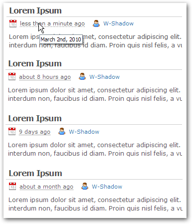 Fuzzy Timestamp plugin screenshots
