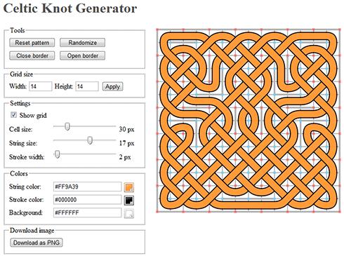 Celtic knot generator screenshot