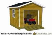 12x12 Shed Plans With Garage Door | icreatables