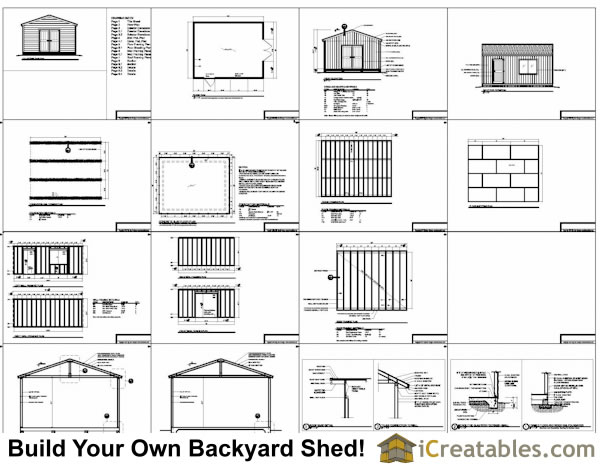 16 x 20 garden shed plans, small wooden lean-to sheds