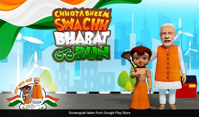 chhota bheem wields the