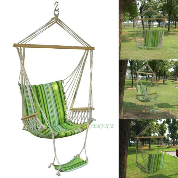 Garden Patio Porch Hammock Hanging Rope Swing Chair Seat