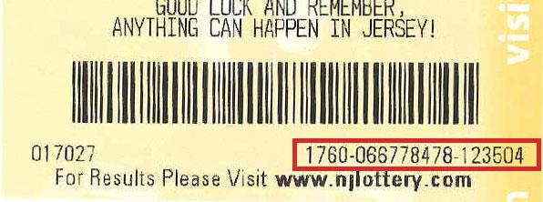 NJ Lottery  Ticket Checker