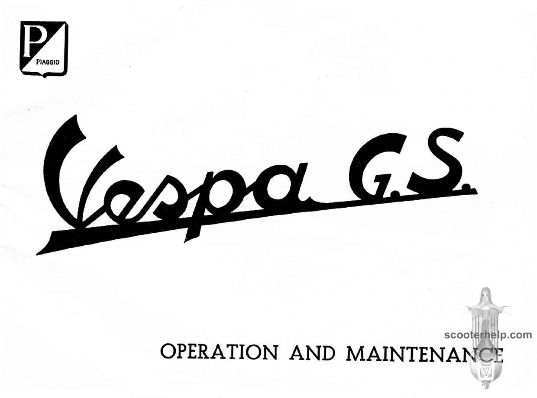 Vespa GS150 Owner's Manual