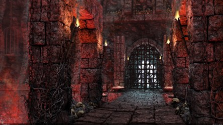 Castle Dark Fantasy Gothic Skull Torch Wallpaper Resolution:1920x1080 ID:1031509 wallha com