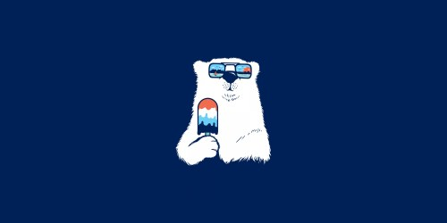 Simple Background Blue Background Animals Bears Food Popsicle Shades Polar Bears Artwork Wallpaper Resolution:3000x1500 ID:163643 wallha com