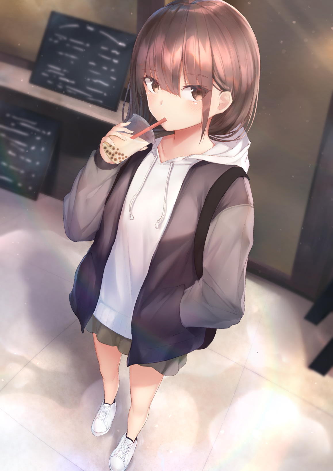 anime girl with short brown hair Pictures [p. 1 of 250] | Blingee.com